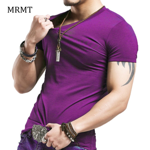 2021 Brand New Men T Shirt Tops V neck Short Sleeve Tees Men's Fashion Fitness Hot T-shirt For Male Free Shipping Size 5XL