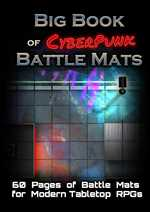 Big Book of Cyberpunk Battle Mats - A4 sized