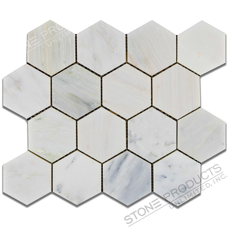 Bianco Bello Hexagon Mosaic