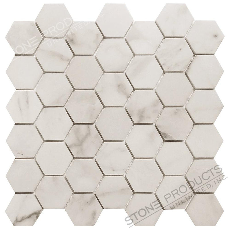 Calacatta Gold Hexagon Mosaic