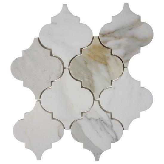 Calacatta Gold Arabesque Mosaic