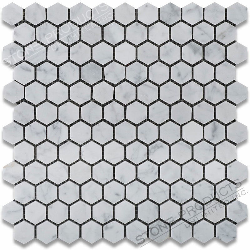 Carrara White Hexagon Mosaic