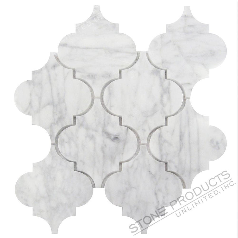 Carrara White Arabesque Mosaic