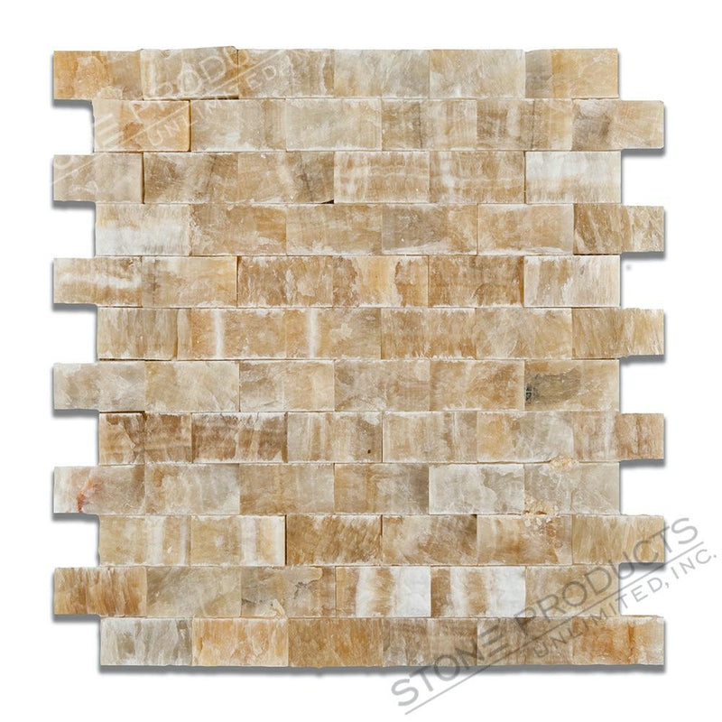 Honey Onyx Brick Mosaic