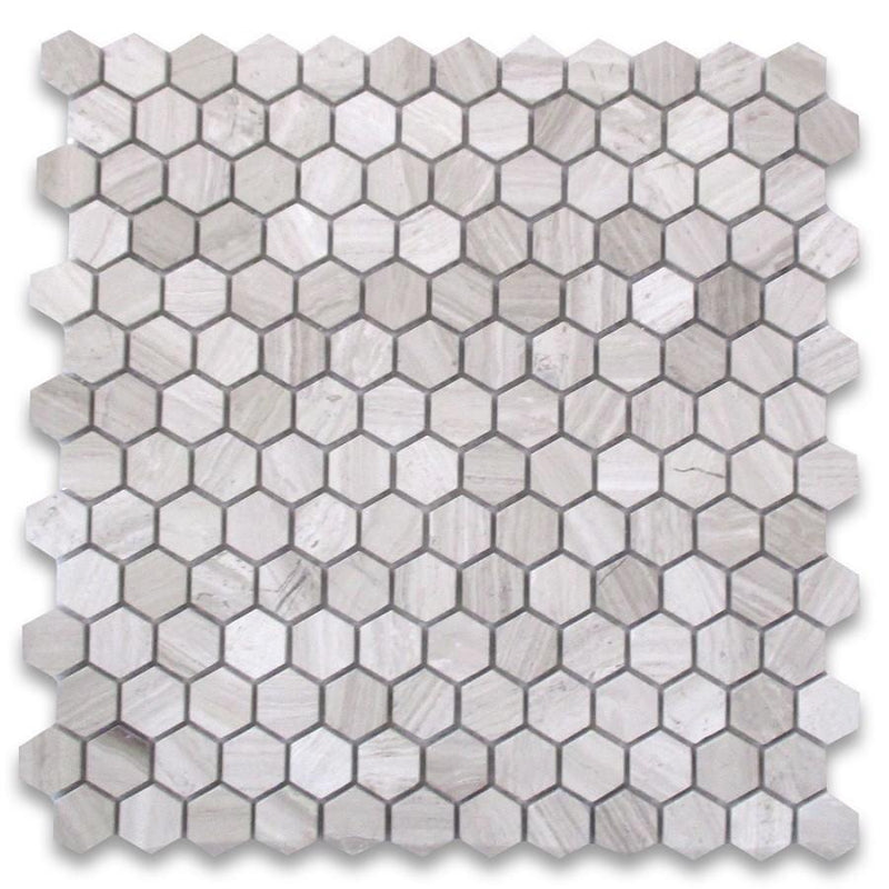 Siberian White Hexagon Mosaic