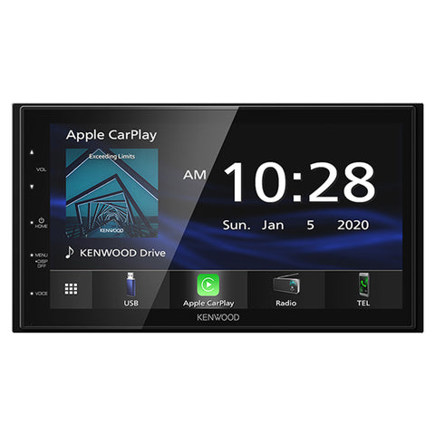"Kenwood DMX4707S, 6.8"" Digital Multimedia Receiver w/ Apple CarPlay and Android Auto (Does not play CDs)"