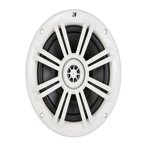 "Kicker KM604W, KM 6.5"" Marine Coaxial Speakers w/ 1/2"" (13mm) Tweeters, White,4-Ohm (41KM604W)"