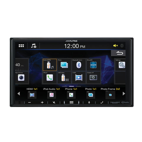 "Alpine iLX-407, 7"" Double-DIN Shallow Chassis Digital Media Receiver w/ Apple CarPlay and Android Auto"