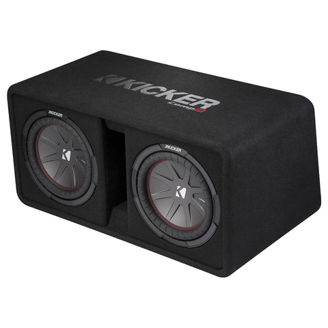 "Kicker DCWR102, CompR Dual 10"" Subwoofers in Vented Enclosure, 2-Ohm, 800W (43DCWR102)"