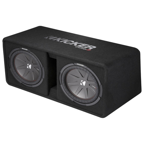 "Kicker DCWR122, CompR Dual 12"" Subwoofers in Vented Enclosure, 2-Ohm, 1000W (43DCWR122)"