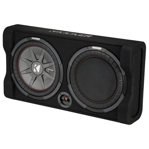 "Kicker TRTP122, TRTP 12""Thin Down Firing Subwoofer and Passive Radiator Enclosure, 2-Ohm (47TRTP122)"