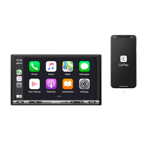 "Sony XAV-AX150, 6.95"" Digital Multimedia Receiver Player w/ CarPlay and Android Auto"