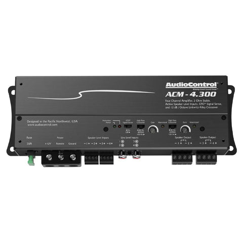 AudioControl ACM-4.300, ACM Series 4 Channel Class D Micro Amplifier, 300 Watts