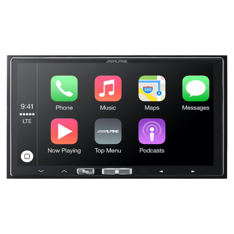 "Alpine iLX-107, 7"" Double-Din Mechless Receiver w/ Wireless CarPlay"