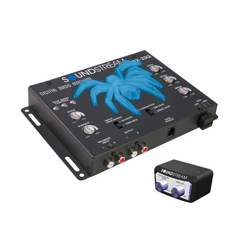 Soundstream BX-23Q, Premium Bass Reconstruction Processor w/ 3 Band EQ & RGB LED Tarantula