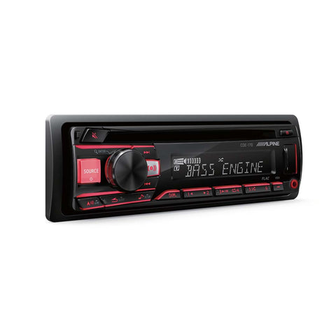 Alpine CDE-170, Single DIN AM/FM/CD/MP3 Car Stereo w/ USB/Aux Input