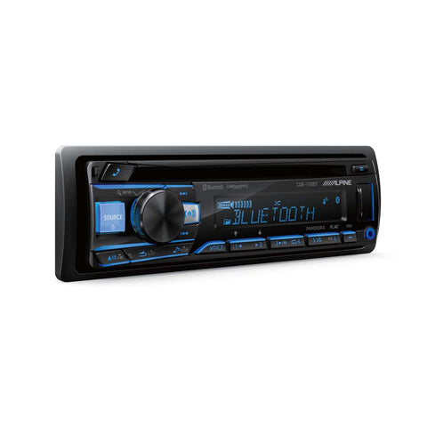 Alpine CDE-172BT, Single DIN AM/FM/CD/MP3 Car Stereo w/ Bluetooth/USB/Aux Input