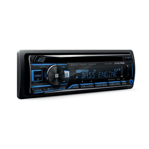 Alpine CDE-175BT, Single-DIN CD Car Stereo w/ Bluetooth, USB & Auxiliary Input