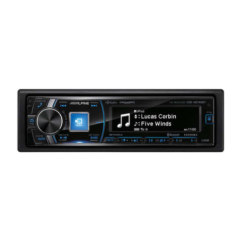 Alpine CDE-HD149BT, Single-DIN CD Car Stereo w/ Bluetooth, USB & Auxiliary Input