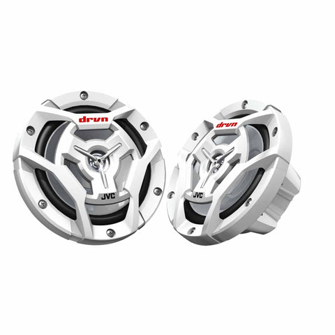 "JVC CS-DR6201MW, Marine/MotorSports 6.5"" 2-Way Coaxial Speakers - 150 Watts (White)"