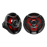 "JVC CS-DR620MBL, Marine/MotorSports 6.5"" Coaxial Speakers w/ LED Lights - 150 Watts (Black)"