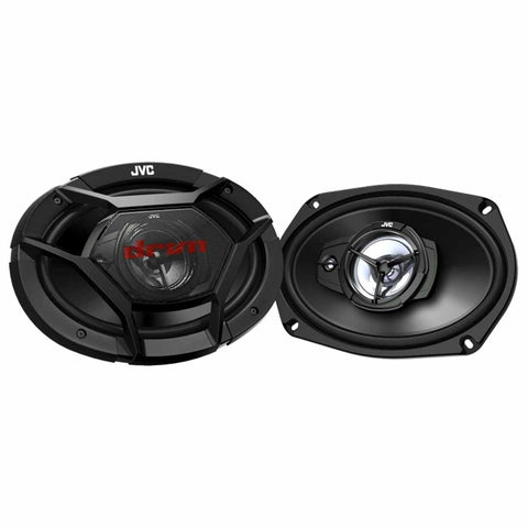 "JVC CS-DR6931, drvn DR Series 6x9"" 3-Way Shallow-Mount Coaxial Speakers - 500 Watts"