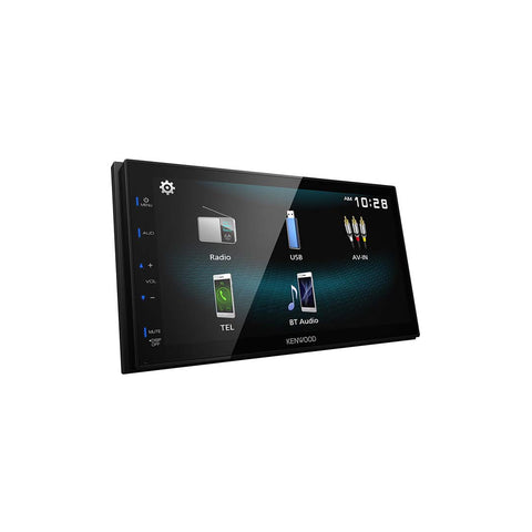 "Kenwood DMX125BT, 6.8"" Capacitive Touch Screen Digital Multimedia Receiver w/ Bluetooth"