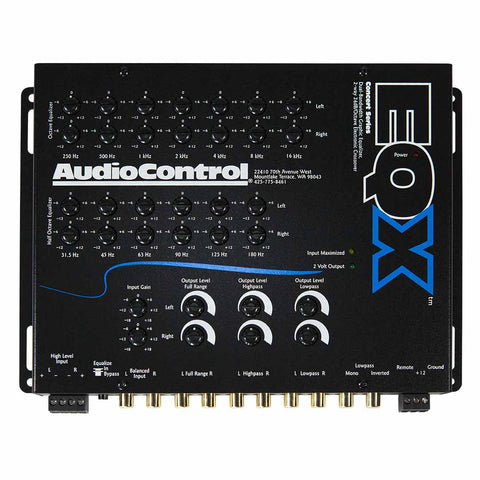 AudioControl EQX, 2 Channel Trunk-Mount Equalizer with Crossover
