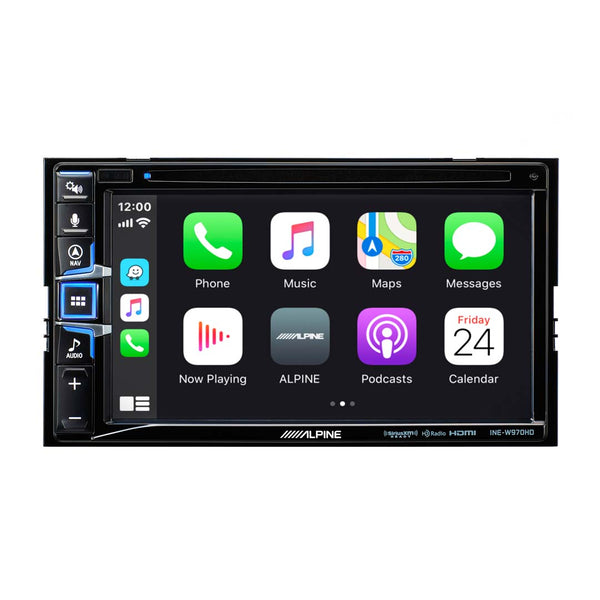 "Alpine INE-W970HD, 6.5"" Double Din Navigation CD/DVD Receiver w/CarPlay and Android Auto"