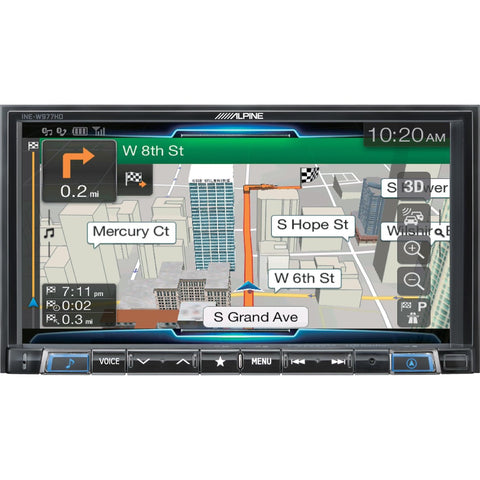 "Alpine INE-W977HD, 7"" Double-Din Media Receiver w/ GPS, CarPlay and Android Auto"