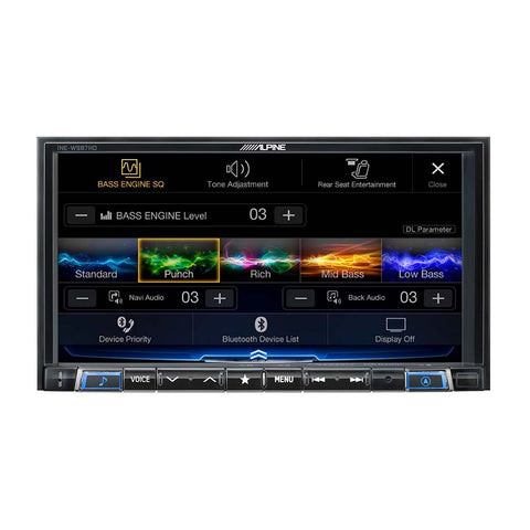 "Alpine INE-W987HD, 7"" Mech-less Navigation Receiver w/ CarPlay & Android Auto"