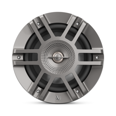 "Infinity KAPPA6125MAM, KAPPA Series 6.5"" 2-Way Premium Marine Coaxial Speakers w/ RGB Lighting - Titanium"