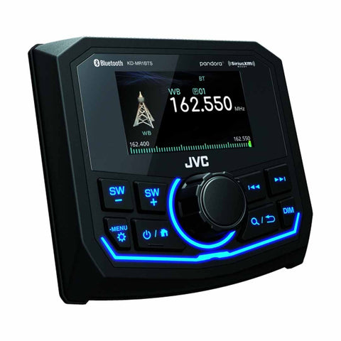 "JVC KD-MR1BTS, 2.7"" In-Dash AM/FM Marine Digital Media Receiver with Bluetooth & SiriusXM Ready"
