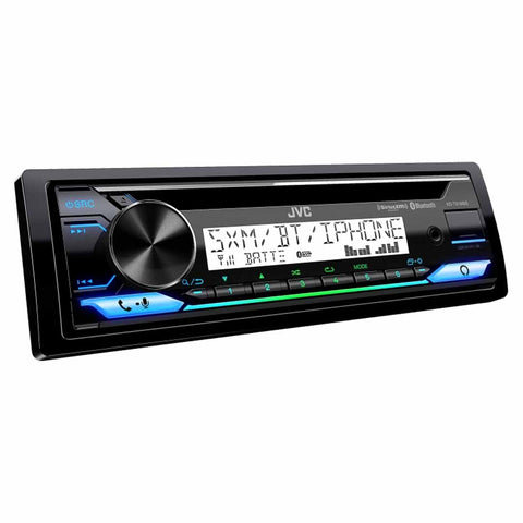 JVC KD-T91MBS, Single-DIN In-Dash Powersports/Marine AM/FM/CD Receiver with Bluetooth, Amazon Alexa, and SiriusXM Ready