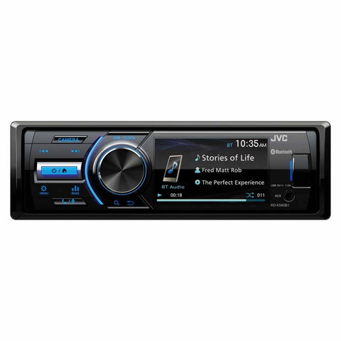 JVC KD-X560BT, Single-DIN In-Dash Powersports/Marine AM/FM/CD Receiver with Bluetooth
