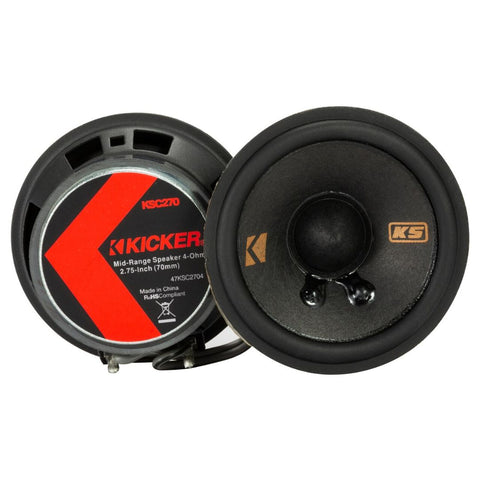 "Kicker KSC2704, KS Series 2.75"" Speakers (47KSC2704)"