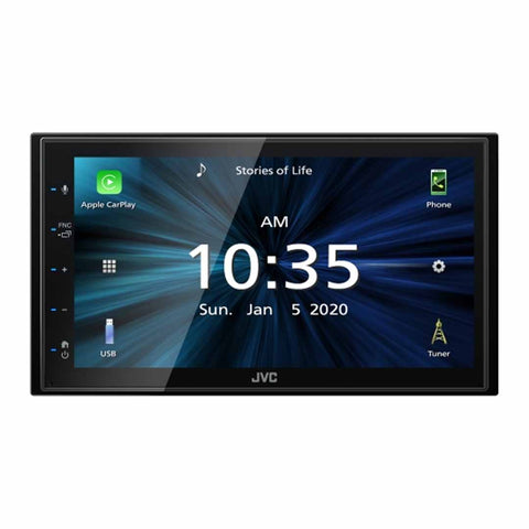 "JVC KW-M560BT, 6.8"" Double-DIN In-Dash All-Digital Multimedia Receiver with Bluetooth, Apple CarPlay, Android Auto, and SiriusXM Ready"