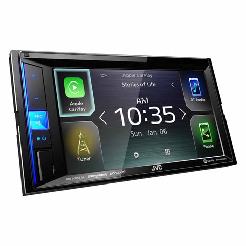 "JVC KW-M650BT, 6.2"" Double-DIN In-Dash Digital Media Receiver with Bluetooth, Apple CarPlay & SiriusXM Ready"
