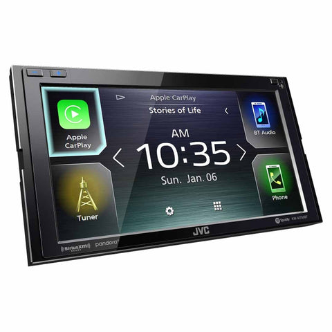 "JVC KW-M750BT, 6.8"" Double-DIN In-Dash Digital Media Receiver with Bluetooth, Apple CarPlay & SiriusXM Ready"