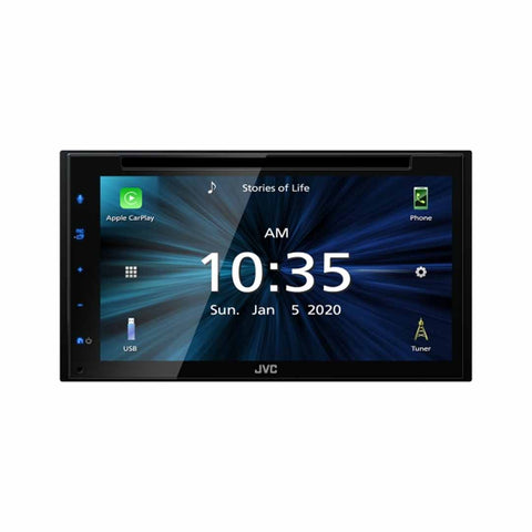 "JVC KW-V66BT, 6.8"" Double-DIN In-Dash DVD Receiver with Bluetooth, Apple CarPlay, Android Auto, and SiriusXM Ready"