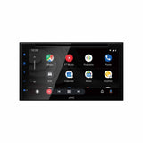 "JVC KW-V660BT, 6.8"" Double-DIN In-Dash DVD Receiver with Bluetooth, Apple CarPlay, Android Auto, and SiriusXM Ready"