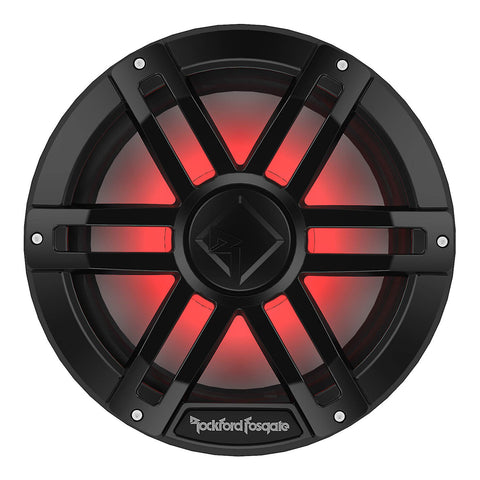 "Rockford Fosgate M1D4-12B, M1 12"" Color Optix Marine Subwoofer Dual Voice Coil 4 Ohm, 1200W"