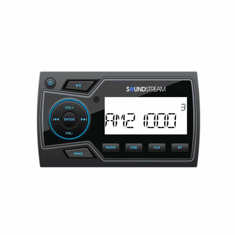Soundstream MHU-32, Marine Grade Multimedia Soure Unit, 2 Zone, Bluetooth
