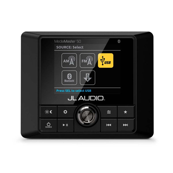JL Audio MM50, MediaMaster Weatherproof Marine Source Unit with Full Color LCD Display