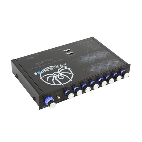 Soundstream MPQ-7XO, 1/2 DIN Dual Channel Multi-Band Graphic EQ