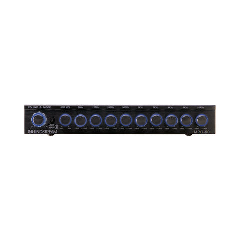 Soundstream MPQ-90, 1/2 DIN 9-Band Graphic EQ w/ Subwoofer Control
