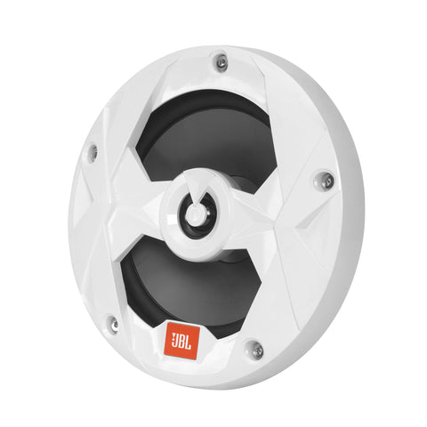 "JBL MS65LW, Club Series Marine 6 1/2"" Mulit-element 2-Way Marine Coaxial Speakers w/ RGB Lighting- 75W (White)"