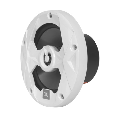 "JBL MS65W, Club Series Marine 6 1/2"" Mulit-element 2-Way Marine Coaxial Speakers - 75W (White)"