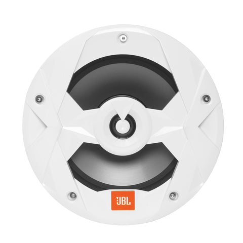 "JBL MS8LW, Club Series Marine 8"" Mulit-element 2-Way Marine Coaxial Speakers w/ RGB Lighting- 150W (White)"