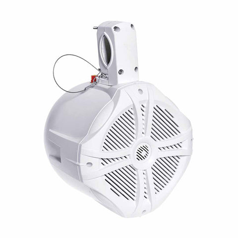 "Power Acoustik MWT-65W, Marine Grade 6.5"" Wake Tower Speaker Enclosure, White"